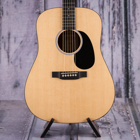 Used Martin DRS2 Acoustic/Electric Guitar, Natural, front closeup
