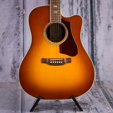 Used Montana Gibson Hummingbird Supreme AG Acoustic/Electric Guitar, 2018, Rosewood Burst, front closeup