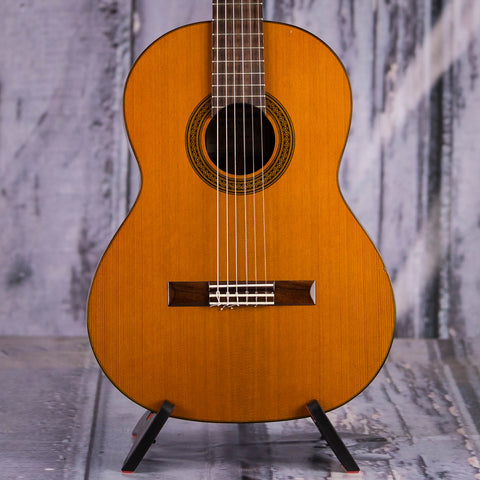 Used New World 628C Classical Guitar, 2014, Natural, front closeup