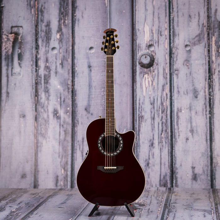 Used 2016 Ovation 2077 LX Legend Acoustic Electric, Burgundy