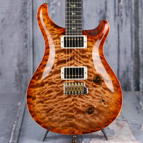 Used Paul Reed Smith Wood Library Custom 22 10-Top Electric Guitar, 2017, Autumn Sky, front closeup