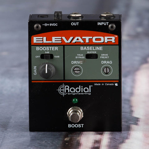 Used Radial Elevator Booster Effects Pedal, front