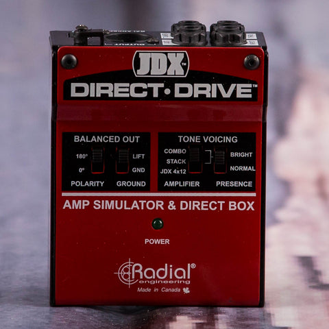 Used Radial JDX Direct Drive Effects Pedal, front