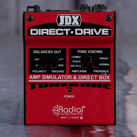 Used Radial JDX Direct Drive Guitar Amp Simulator Effects Pedal, front