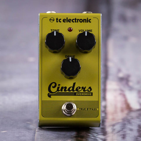 Used TC Electronic Cinders Bass Overdrive Effects Pedal, front