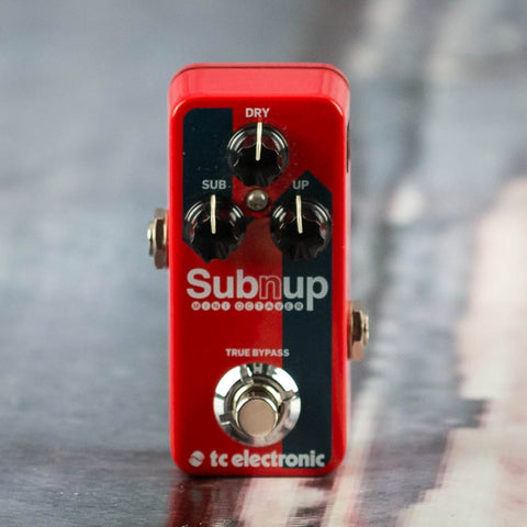 Used TC Electronics Sub 'N' Up Mini Octaver Effects Pedal, front