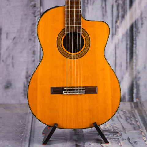 Used Takamine EG128SC Acoustic/Electric Classical Guitar, 2009, Natural,