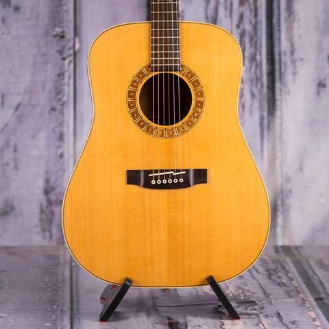 Used Takamine F370SS Dreadnought Acoustic Guitar, Natural, front closeup