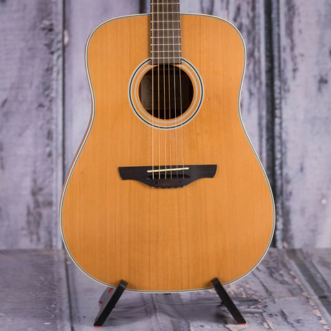 Used Takamine GS330S Dreadnought Acoustic Guitar, Natural, front closeup