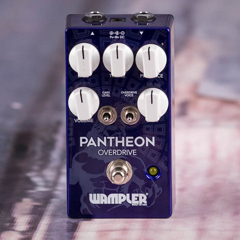 Used Wampler Pantheon Overdrive Effects Pedal, front