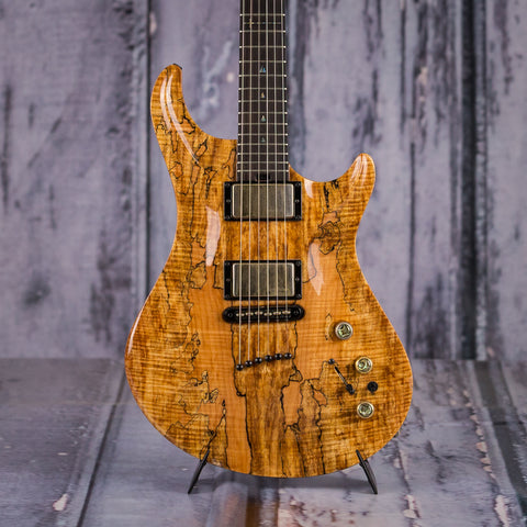 Used Warrior Isabella Electric Guitar, 2003, Spalted Maple, front closeup