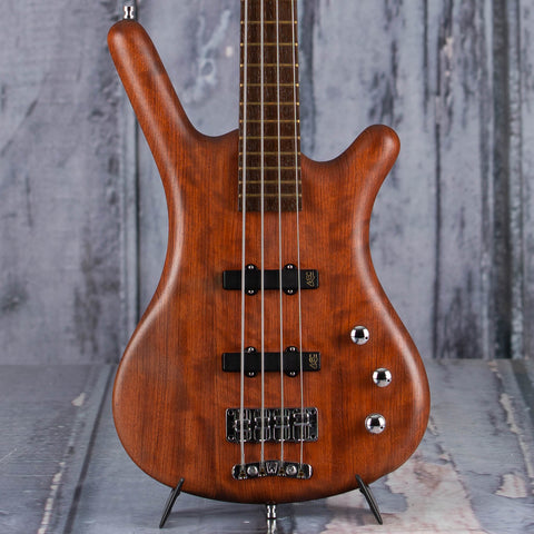 Used Warwick Corvette Standard Electric Bass Guitar, 2008, Natural, front closeup