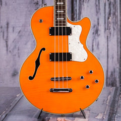 Used Waterstone TP-4 Semi-Hollowbody Bass, Trans Orange