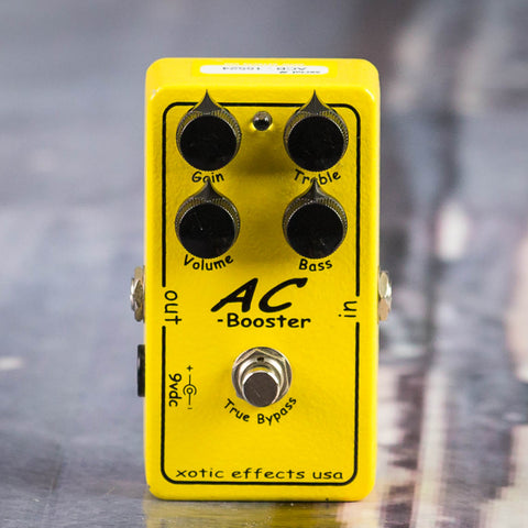 Used Xotic AC Boost Effects Pedal, front