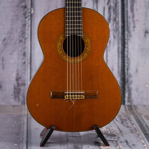 Vintage Alvarez CY140 Classical Guitar, 1977, Natural, front closeup