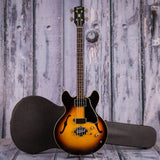 Vintage Gibson EB-2 Electric Bass Guitar, 1966, Sunburst, case