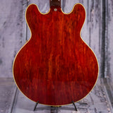 Vintage Gibson ES-335 TDSV Semi-Hollowbody Electric Guitar, 1963, Cherry, back closeup