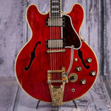 Vintage Gibson ES-335 TDSV Semi-Hollowbody Electric Guitar, 1963, Cherry, front closeup