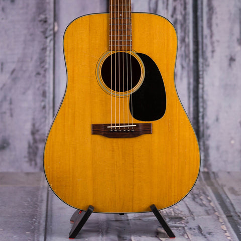 Vintage Martin D18 Dreadnought Acoustic Guitar, 1972, Natural, front closeup