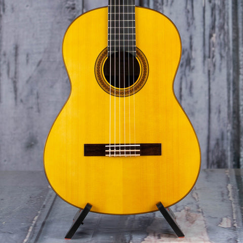 Yamaha CG182S Classical Acoustic Guitar, Natural, front closeup