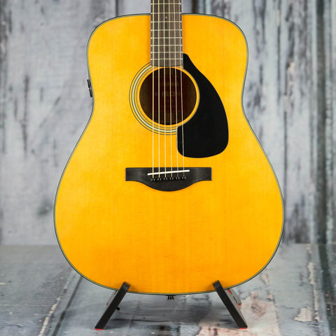 Yamaha FGX3 Acoustic/Electric Guitar, Natural, front closeup