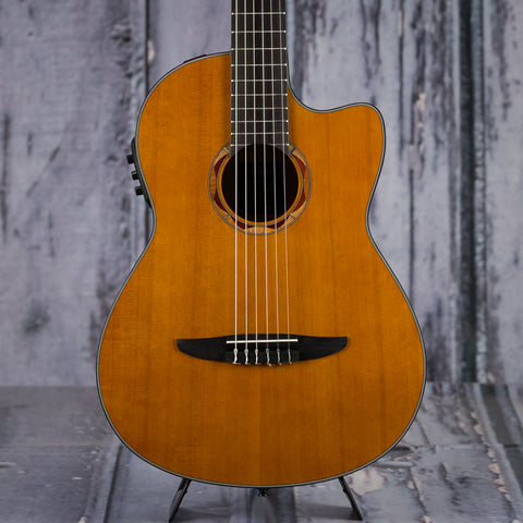 Yamaha NCX700C Nylon-String Acoustic Electric, Natural, front closeup
