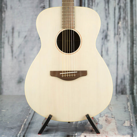 Yamaha Storia I Acoustic/Electric Guitar, Transparent Off-White, front closeup