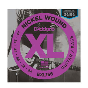 D'Addario EXL156 Nickel Wound, Fender Bass VI, 24-84