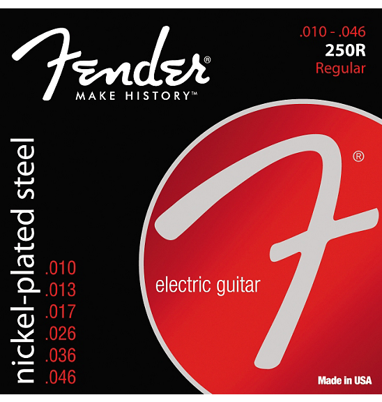 Fender 250R Super 250 Nickel-Plated Steel Electric Strings