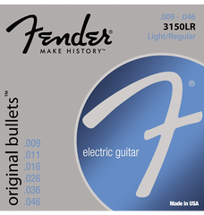 Fender 3150LR Original 150 Pure Nickel Bullet-End Electric Guitar Strings - Light