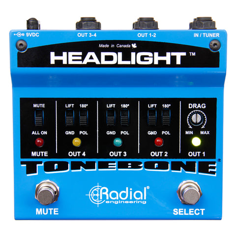 Radial Tonebone Headlight Four-Output Guitar Amp Selector