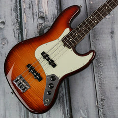 Used - Fender LTD Figured Maple Top American Pro Jazz Bass - Aged Cherry Burst