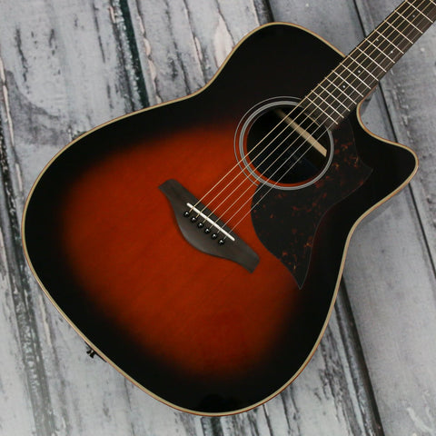 Used Yamaha A1R-TBS acoustic-electric guitar - sunburst