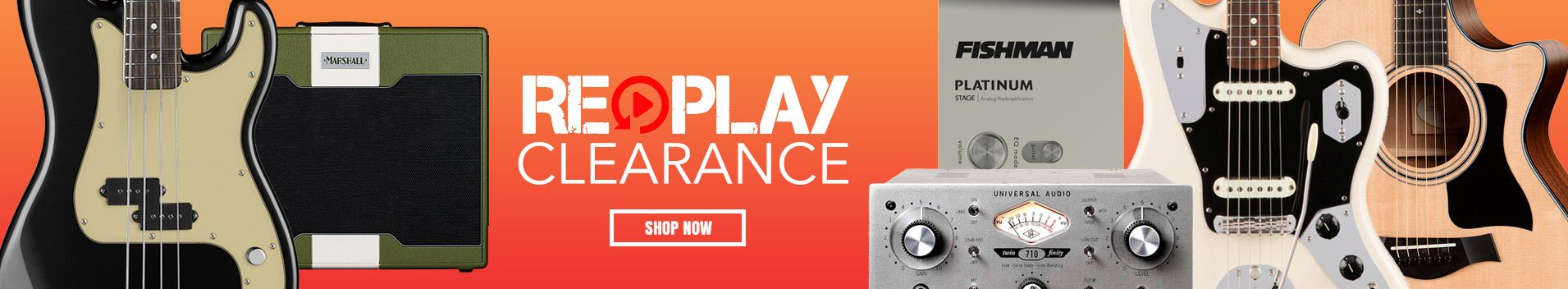 Replay Guitar Exchange Clearance Products