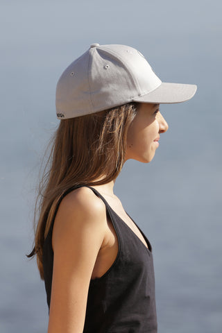 CASQUETTE ENFANT GRIS CLAIR - MADE IN FRANCE