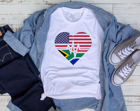 South African American Unisex Tee
