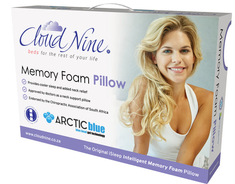 Memory Foam Blue Gel Pillow (Cloud Nine) - Beds & Pillows