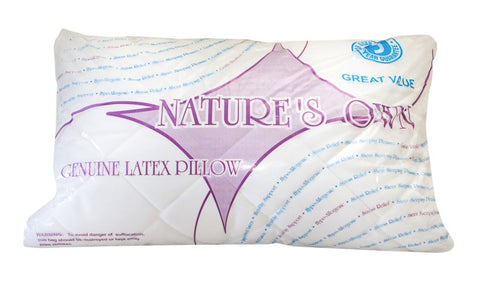Latex Chip Pillow (Natures Own) - Beds & Pillows