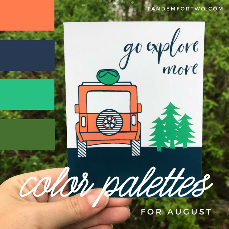 August Color Palettes from Tandem for Two