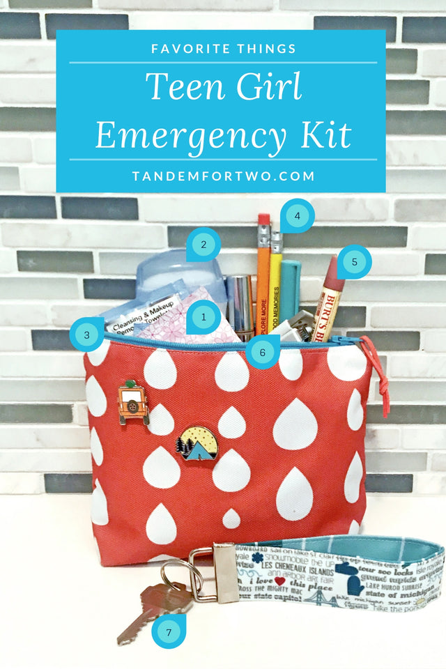 Must Haves for a Teen Girl Emergency Kit - tandemfortwo.com
