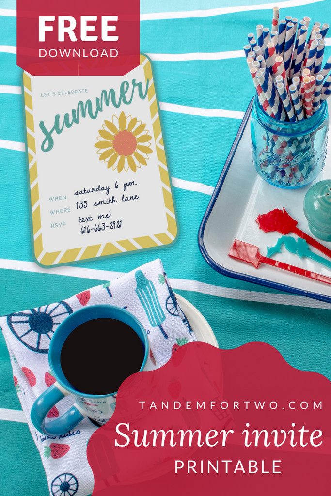 Freebie: Summer Party Invite Printable