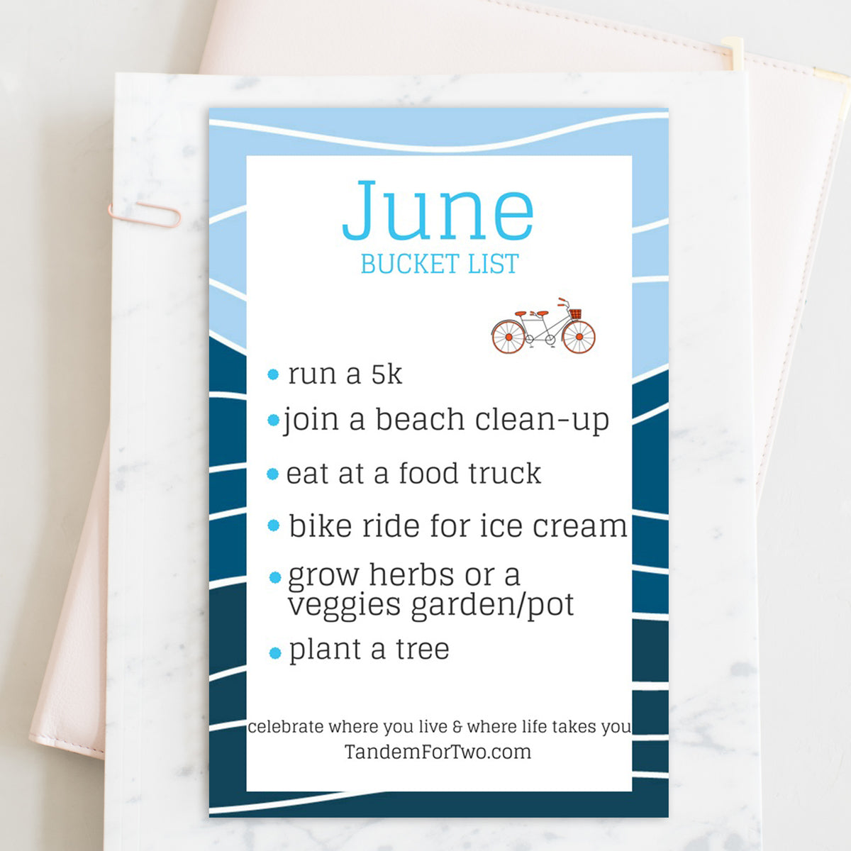 June Bucket List from Tandem For Two
