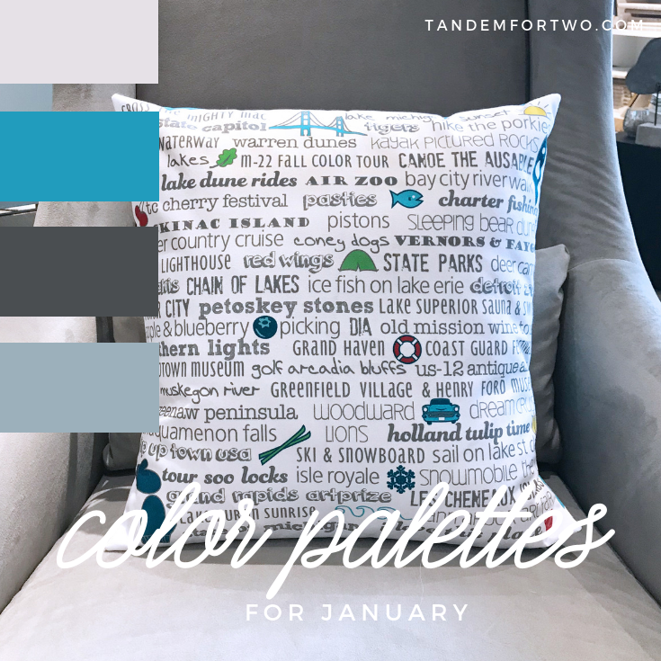 January Color Palettes from Tandem For Two