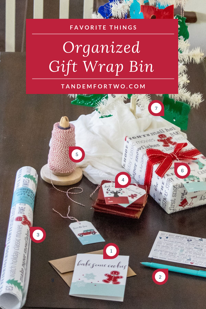 Organized Gift Wrap Bin - Tandem For Two