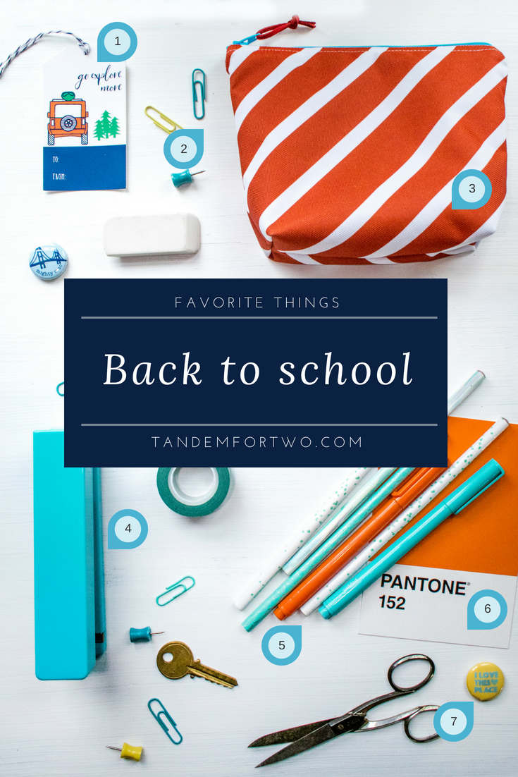 Favorite Things: Back to School - tandemfortwo.com