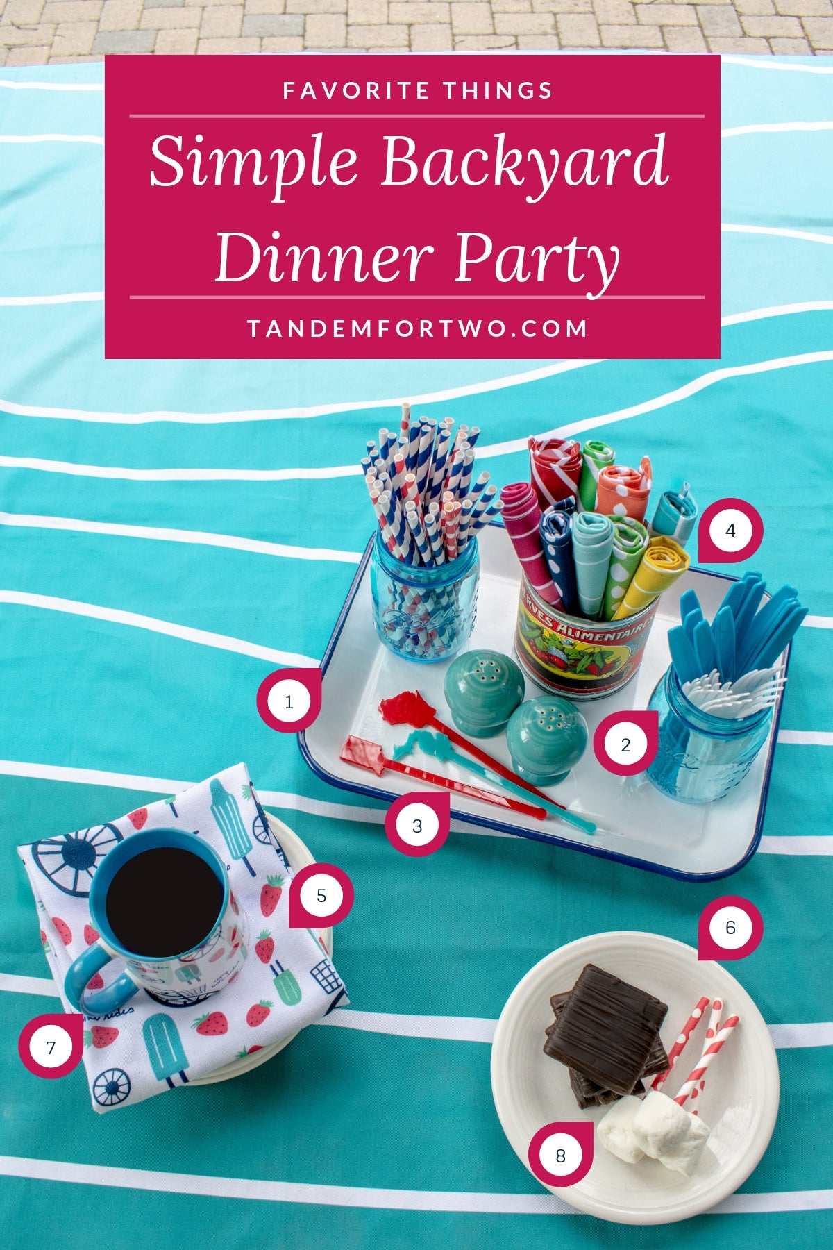 Simple Summer Dinner Party - Tandem For Two