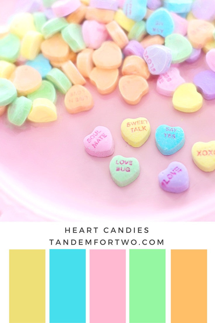 February Color Palettes from Tandem For Two