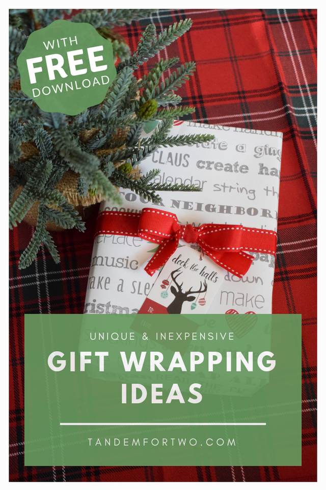 Unique and Inexpensive Gift Wrapping Ideas - Tandem For Two