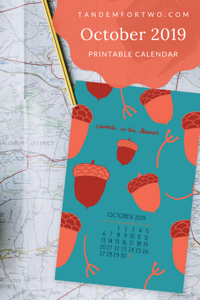 Freebie: October 2019 Calendar - Tandem For Two