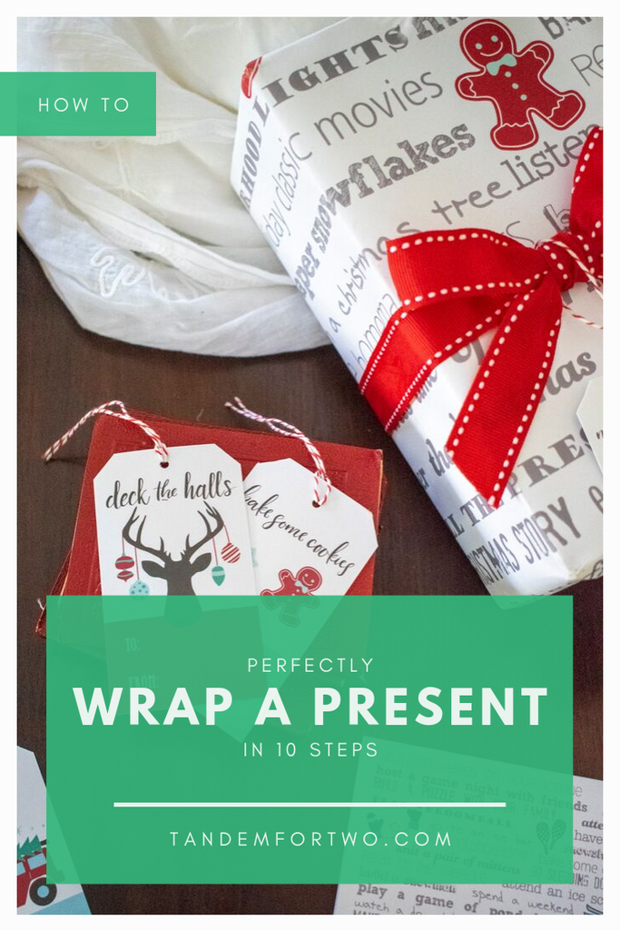 How to Perfectly Wrap a Present in 10 Steps - Tandem For Two